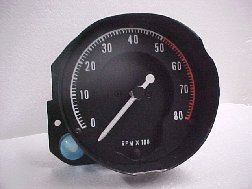 68-70 B BODY RALLYE DASH TACHOMETER WITH NO CLOCK
