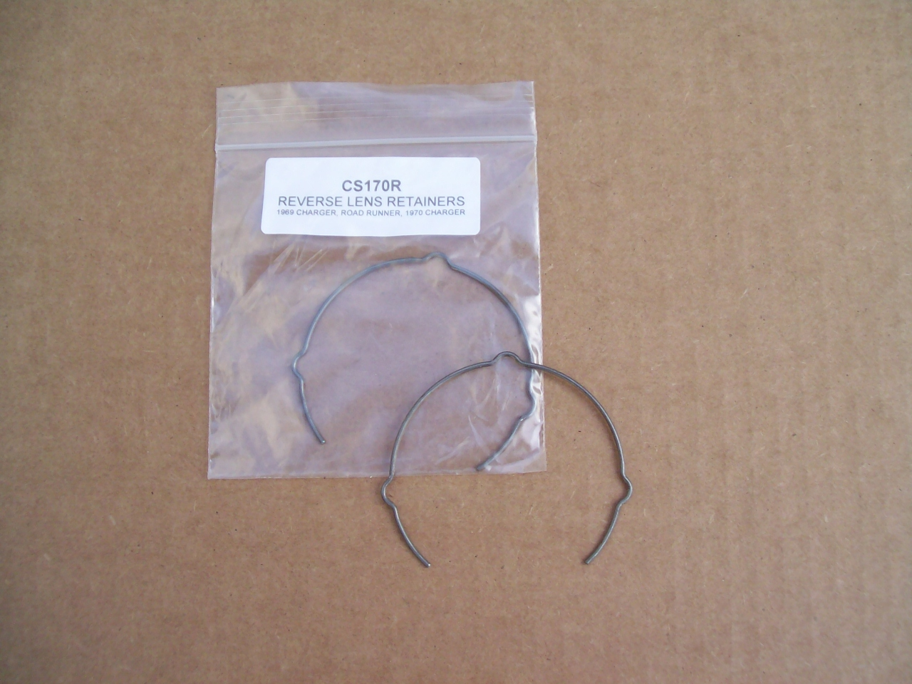 1968 - 1970 Dodge Plymouth B-Body reverse lamp lens RETAINERS